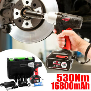 1 2in Drive Electric Brushless Cordless Impact Wrench Drill High Torque Gun Tool