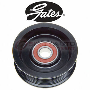 Gates Grooved Pulley Drive Belt Idler Pulley For 2007 Chevrolet Silverado Zn