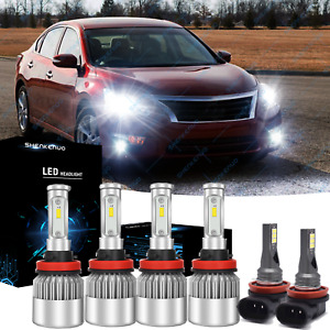 For 2007 2018 Nissan Altima Combo Led Headlight High Low Fog Light Bulbs Kit 6