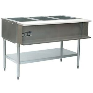 Eagle Group Awt3 ng 1x 3 well Water Bath Steam Table 48 Natural Gas