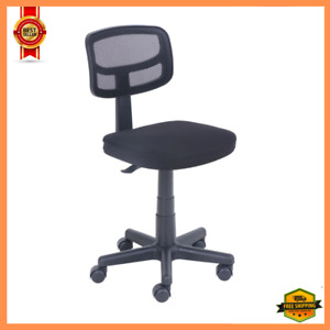 Mesh Task Chair With Plush Padded Seat Rolling Office Chair Adjustable Black