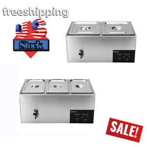Zokop 2 3 Cells Electric Food Warmer Bain Marie Stainless Steel 600w Commercial