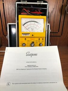 Simpson Electric 260 8xi Analog Multimeter 1000v 10a 20m with Case
