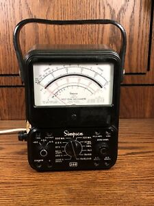 Simpson Model 260 Series 5m Analog Meter Multimeter