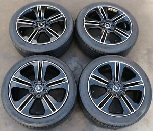 2013 2014 Ford Mustang Gt Factory 19 19x8 5 Black Wheels Rims W Goodyear Tires