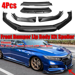 Front Bumper Lip Spoiler Splitter Trim For Honda Accord 10th Gen Sport 2018 2019