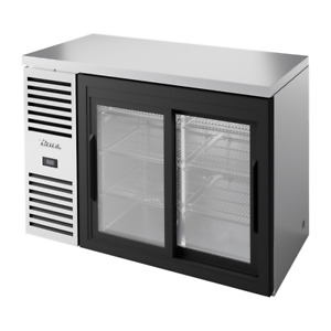 True 48 w Two section Stainless Refrigerated Back Bar Cooler