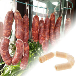 15 Meters X 20mm Dry Collagen Sausage Casing Tube Meat Sausages Casing Maker M