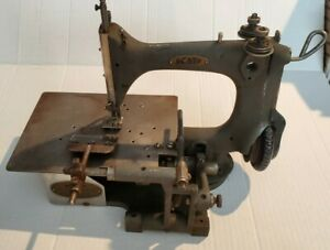 Antique K P Fancy Stitching Machine Co Industrial Chain stitch Sewing 2 Needle