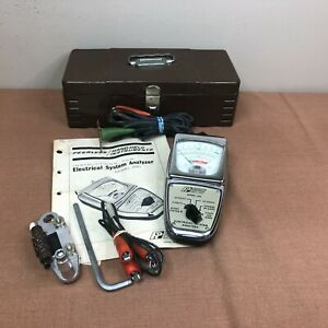 Vintage Peerless Electrical System Analyzer Model 250 W Instructions Toolbox
