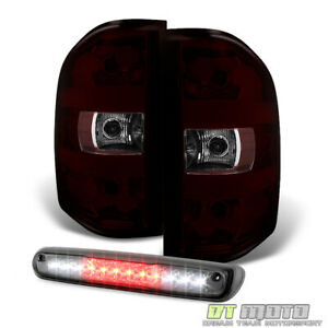 2007 2013 Chevy Silverado 1500 2500 3500hd Tail Lights Led 3rd Brake Cargo Lamp