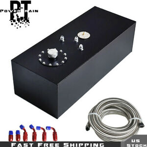 15 Gallon Top feed Aluminum Fuel Cell Tank With Level Sender 10ft Fuel Line Kit