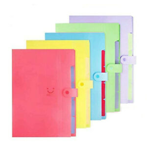 5 Pack Expanding File Accordion Folder Paper Document Organizer With 5 Pocket