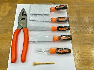 Snap on Tools Usa 2018 137acf Orange 8 Slip Joint Pliers Pumpkin Carving Set