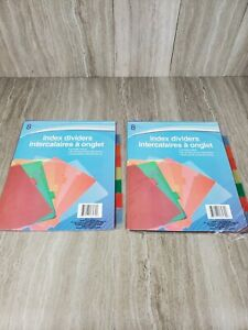 Jot Plastic 3 ring Binder Index Dividers With Tabs Mixed Colors 2 Pack