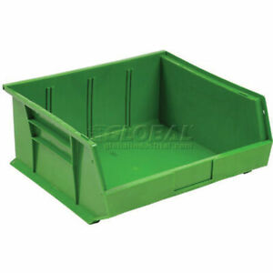 6 pack Green Plastic Stacking Hanging Bin Small Parts Storage Organizer Bins