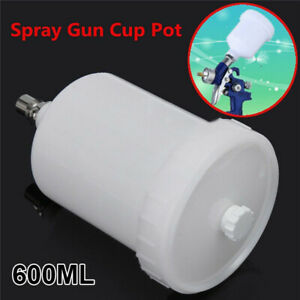 600ml Plastic Paint Cup Pot Replacement For Sata Sprayer Cup Connector Jet New