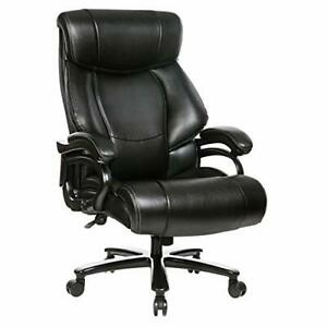 High Back Big Tall 400lb Bonded Leather Office Chair Heavy Duty Metal