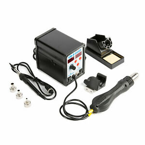 Smd Solder Iron Hot Air Rework Station W 11 Iron Tips 898d Digital 2 In 1