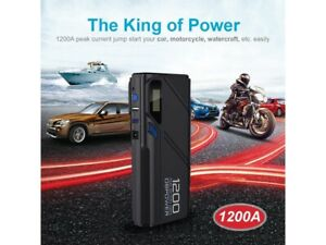 Dbpower 1200a Peak Portable Car Jump Starter For 6 5l Gas 5 2l Diesel Engine
