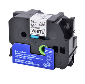 1pk Tze 261 Black On White Label Tape For Brother P touch Pt 9500pc 1 4 Tz 261