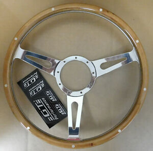Gt Performance 38 4247 Gt9 Retro Cobra Wood Steering Wheel 3 Spoke 15