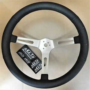 Gt Performance 36 5445 Gt3 Retro Leather Steering Wheel 3 Spoke 15 Dia