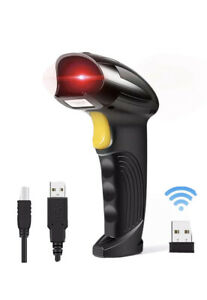 Wireless Barcode Scanner Wellcows 2 in 1 2 4ghz Usb 2 0 Automatic Reader