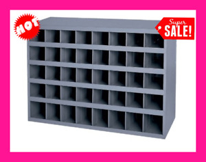 40 Hole Storage Bolt Bin Metal Cabinet Compartment Nuts Fasteners Screws Parts