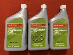Manual Transmission Fluid Honda acura Genuine Mtf Pack Of 3 With Washers