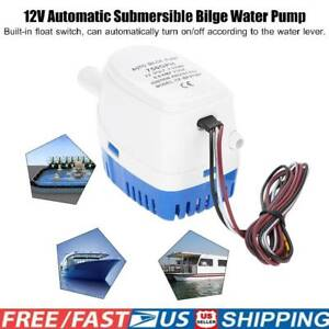 12v 750gph Boat Marine Automatic Submersible Bilge Auto Electric Water Pump G