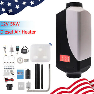 Diesel Air Fuel Heater 12v 5kw 10l Tank With Switch Remote Control For Car Truck
