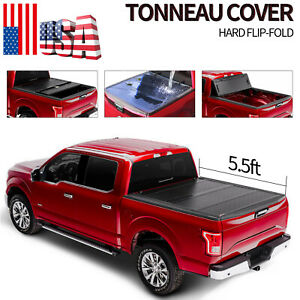 Flip Folding For 2015 2021 Ford F 150 5 5ft Truck Bed Tonneau Cover