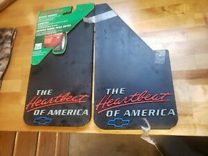 The Heartbeat Of America Chevy Mud Flaps Usa Splash Guard Vintage