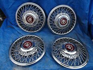 1985 Cadillac Deville Fleetwood 14 Oem Spoke Wire Hubcaps Wheel Covers Set