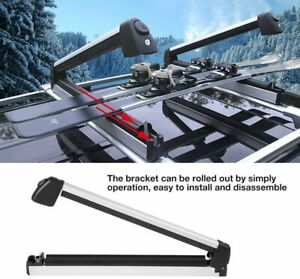 Pairs Skis Snowboard Holder Skis Fishing Rods Paddles Roof Luggage Carrier Rack