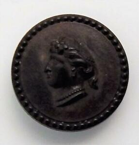 Antique Goodyear Patent Dated 1851 Cameo Button National Rubber Company