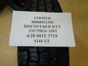 1 New Cooper Discoverer Rtx 235 75 16 108t Tire 90000021308 Q1