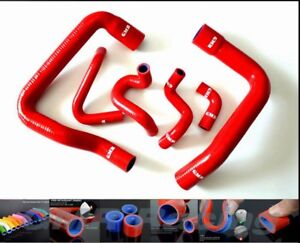 For 86 93 Ford Mustang Gt Silicone Radiator Hose Kit Cold case Foxbody 5 0 Red