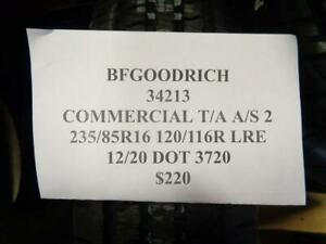 1 New Bfgoodrich Commercial T A A S 2 235 85 16 120 116r Lre Tire 34213 Q1