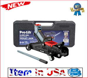 Car Floor Jack Hydraulic Low Profile 3000 Lb Auto Heavy Lifting Steel Garage