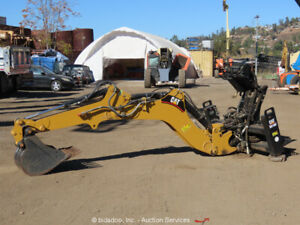 2006 Caterpillar Bh160 Backhoe Attachment For Skid Steer Aux Hydraulics Bidadoo