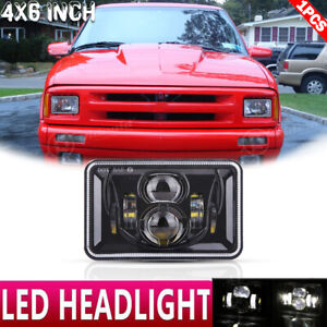 Dot 4x6 Led Headlight Projector Hi Lo Beam For For Chevrolet S10 1995 1996 1997