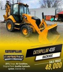 2015 Caterpillar 420f Backhoe Air Condition Aux Hydraulic System Extenda Hoe
