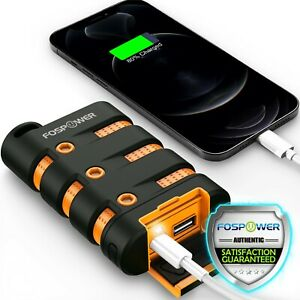 Fospower Heavy Duty Rugged Shockproof Ip67 Usb C Power Bank Battery Pack Charger
