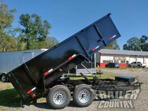 New 2021 7x14 7 X 14 14k Gvwr Hydraulic Dump Trailer Equipment Hauler 36 Sides