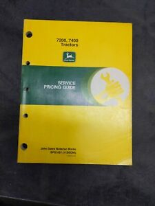 John Deere 7200 7400 Tractors Service Pricing Guide
