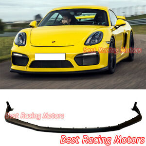Oe Style Front Bumper Lip Pp Fits 2016 Porsche 981 Cayman Gt4 Boxster Spyder