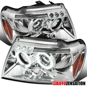 For 1999 2004 Jeep Grand Cherokee Clear Projector Headlights W Led Left right