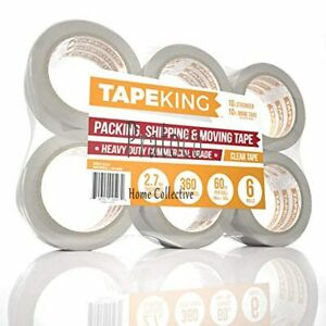 Tape King Clear Packing Tape 60 Yards Per Roll 6 Refill Rolls 2 Inch Wide